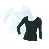 Figur Body Thermoshirt 2er-Set schwarz-weiß - Freisteller