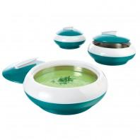 GOURMETmaxx Thermoschüssel smaragdgrün, 3er-Set - Freisteller