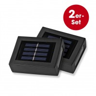 EASYmaxx Solar-Wandleuchte - 2er-Set - schwarz