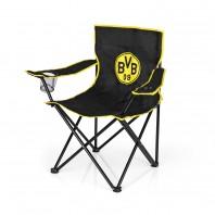 BVB Campingstuhl faltbar - 80x50 cm - schwarz/gelb mit Logo