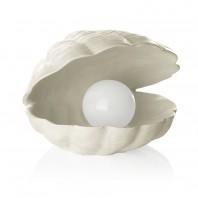 EASYmaxx Solar-Leuchte Leuchtperle in Muschel 1,2 V in Weiß - Freisteller