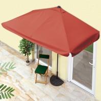 EASYmaxx Sonnenschirm rechteckig in Terracotta mit UV-Schutz - Ambiente Terrasse