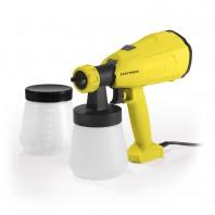 EASYmaxx Farbpistole - gelb + Farbbehälter 700ml - weiß