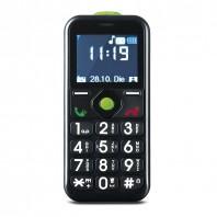 EASYmaxx Handy für alle in Schwarz - Frontansicht