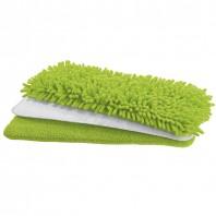 Mr. Maxx Spray-Mopp Deluxe Ersatzset mit 3 antibakteriellen Tüchern grün