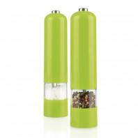 GOURMETmaxx Salz- & Pfeffermühle mit LED 2er-Set, limegreen - Setbild