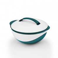 GOURMETmaxx Thermoschüssel metallic 400 ml in Smaragdgrün/Weiß - Freisteller
