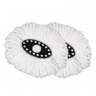 CLEANmaxx Ersatz-Moppaufsatz oval 2er-Set für den Power-Wischmopp - 2er-Set Freisteller
