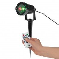 EASYmaxx Laserstrahler mit Fernbedienung, schwarz