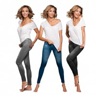 Verona's Dreams Slim Jeans Leggings 3er-Set je 1x blau, schwarz, grau
