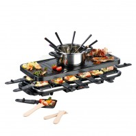 GOURMETmaxx Raclette- & Fondue in Schwarz