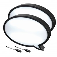 EASYmaxx LED-Lichtbox Sprechblase 9V in Schwarz