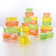 GOURMETmaxx Frischhaltedosen Klick-it 50-tlg. gelb/grün/orange