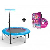 POWER MAXX Fitness-Trampolin + Training DVD Basic