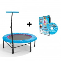 POWER MAXX Fitness-Trampolin + Training DVD Professional