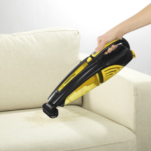 cleanmaxx akku handstaubsauger 2in1 in gelb schwarz tv werbung unser. Black Bedroom Furniture Sets. Home Design Ideas