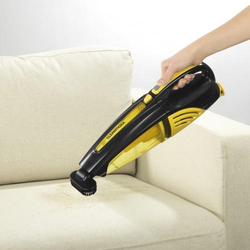 cleanmaxx akku handstaubsauger 2in1 in gelb schwarz tv. Black Bedroom Furniture Sets. Home Design Ideas