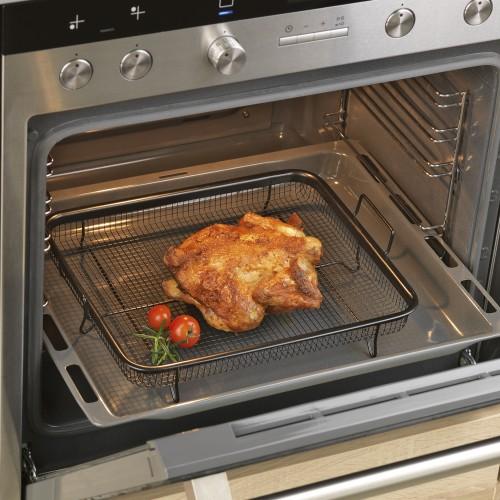 Gourmetmaxx grillkorb heissluft in schwarz fur backofen for Backofen ma e