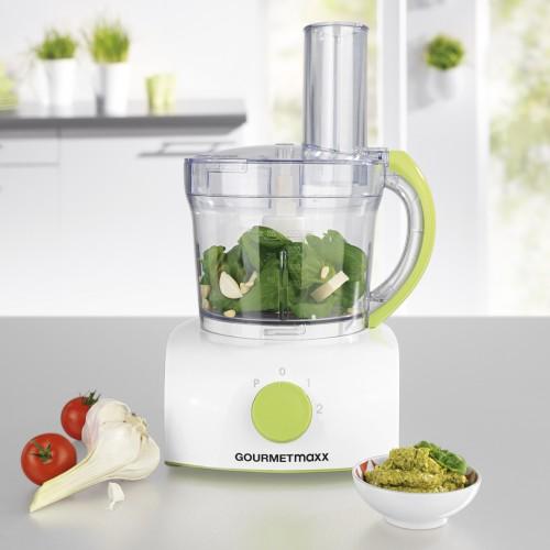 Gourmetmaxx Kuchenmaschine 350w Weiss Limegreen