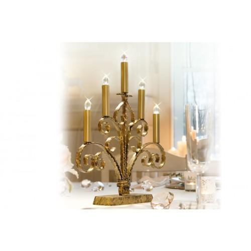 christmaxx led kerzenst nder gold. Black Bedroom Furniture Sets. Home Design Ideas