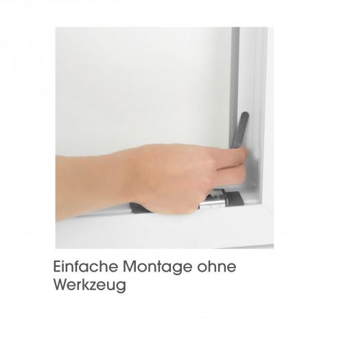 easymaxx fenster moskitonetz mit magnetbefestigung 150 x 130cm schwarz. Black Bedroom Furniture Sets. Home Design Ideas