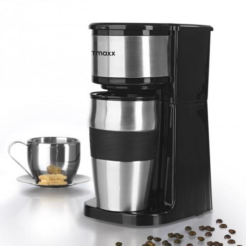 gourmetmaxx edelstahl kaffeemaschine thermobecher in schwarz. Black Bedroom Furniture Sets. Home Design Ideas