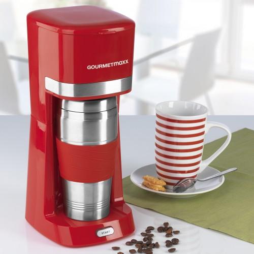 gourmetmaxx single kaffeemaschine mit thermo keramik becher rot. Black Bedroom Furniture Sets. Home Design Ideas