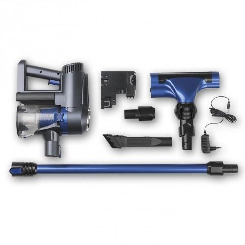 cleanmaxx akku zyklon staubsauger 22 2v blau schwarz. Black Bedroom Furniture Sets. Home Design Ideas