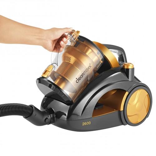 cleanmaxx multizyklon staubsauger 2600 gold 1200 watt. Black Bedroom Furniture Sets. Home Design Ideas