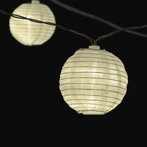 EASYmaxx Solar-Lichterkette Lampions Garten Balkon bis zu 8 Stunden Leuchtdauer