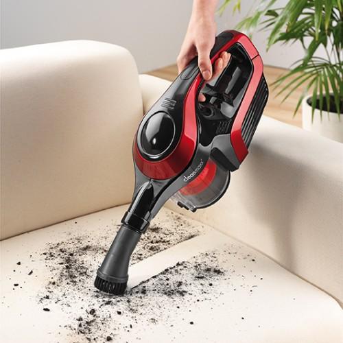 cleanmaxx akku zyklon staubsauger 2in1 in rot schwarz. Black Bedroom Furniture Sets. Home Design Ideas