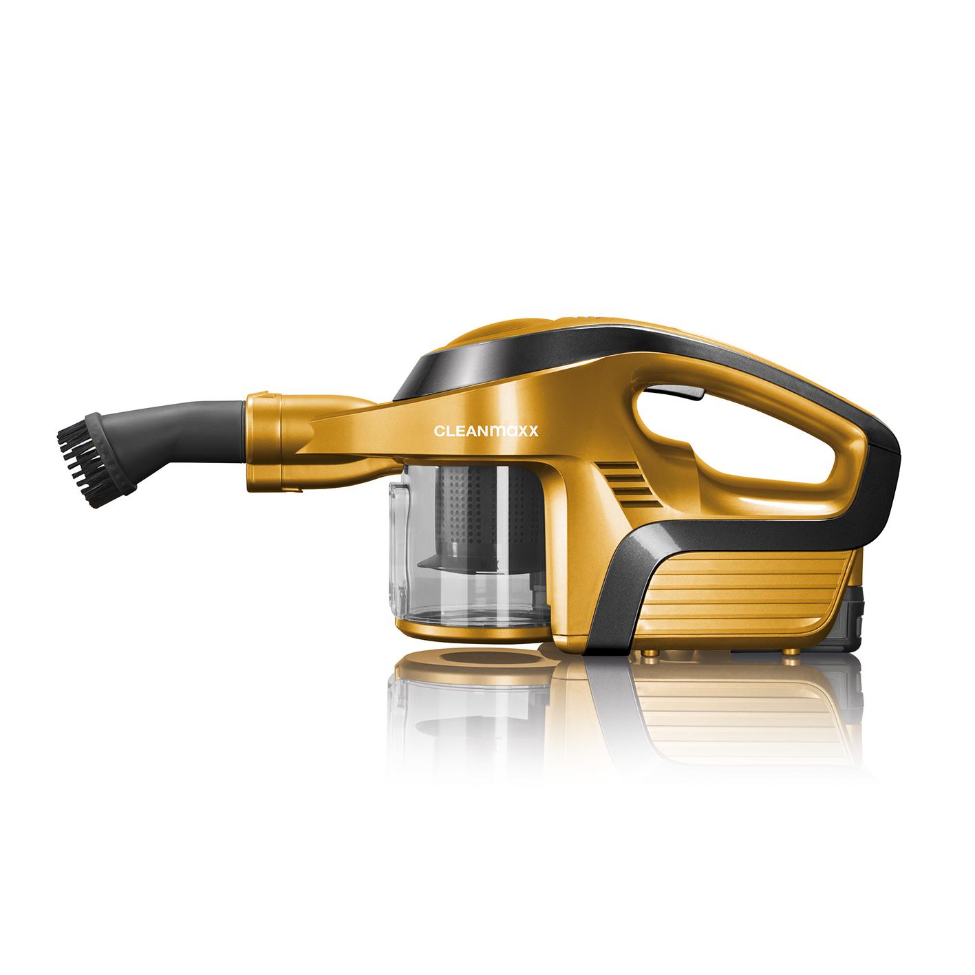 cleanmaxx akku zyklon staubsauger gold gelenkrohr elektr turbod se beutellos ebay. Black Bedroom Furniture Sets. Home Design Ideas