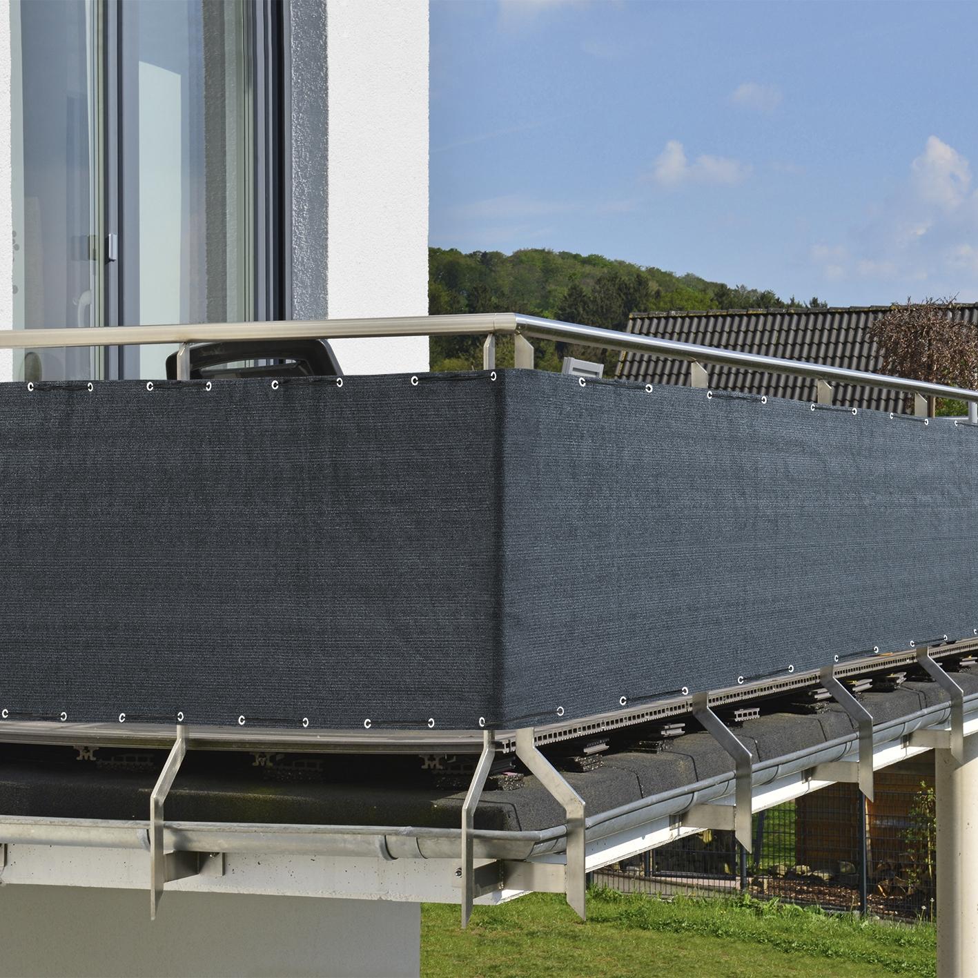 Prima Garden Balkon Sicht Und Windschutz 500 X 90 Cm Anthrazit