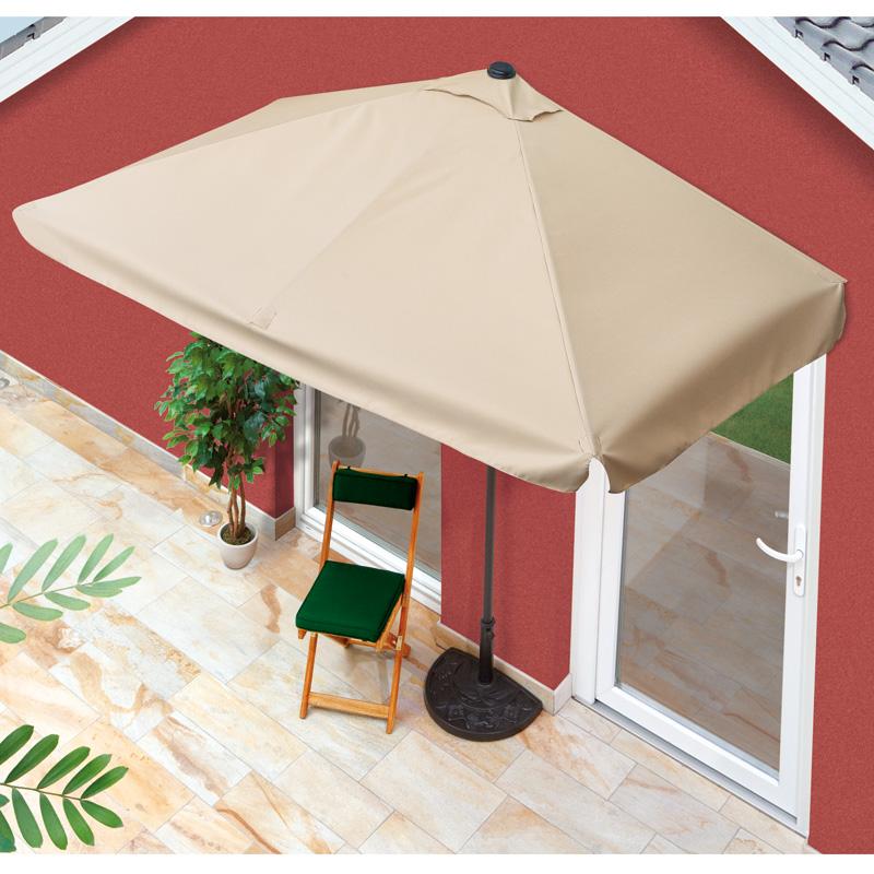 easymaxx sonnenschirm rechteckig hauswand balkon uv schutz. Black Bedroom Furniture Sets. Home Design Ideas