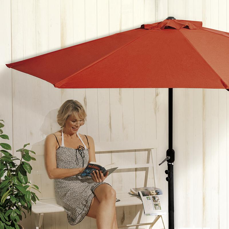 EASYmaxx Sonnenschirm Gartenschirm Ampelschirm Terassenschirm Hauswand Balkon