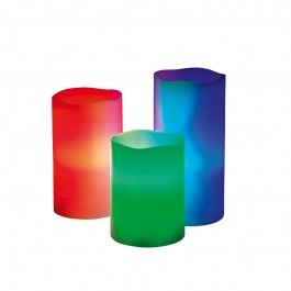 candlemaxx LED-Echtwachskerzen Multicolor, 3-teiliges Set - Freisteller