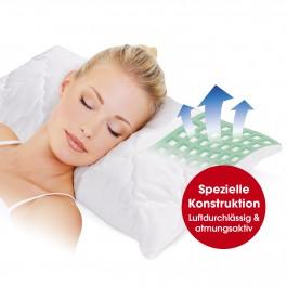 VITALmaxx Kissen Max Comfort 80x40 cm in Weiß - Freisteller 1