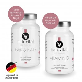 nah-vital HAIR & NAILS Caps + VITAMIN D Caps
