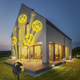 BVB LED-Motivstrahler - Projiziert das BVB-Logo - Für innen & außen