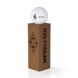 Borussia Mönchengladbach LED-Dekosäule Rost-Optik mit Leuchtkugel - 84 cm - braun