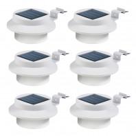 EASYmaxx Solar-Dachrinnenleuchten 6er-Set in Weiß - Set