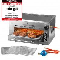 GOURMETmaxx BEEF Grill XL - Oberhitze-Gasgrill - Edelstahl