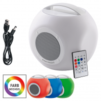EASYmaxx LED-Bluetooth-Lautsprecher Colorcube 3,7V in Weiß