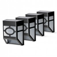 Solarzauber Zaunlichter 4er-Set