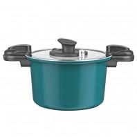 bratmaxx Energiespartopf mit Keramikbeschichtung, mit Abgießdeckel, smaragdgrün - Freistelller