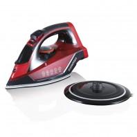 CLEANmaxx Dampfbügeleisen - kabellos - rot/schwarz