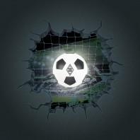 Borussia Mönchengladbach LED-Lampe in Ballform mit 3D-Wandtattoo