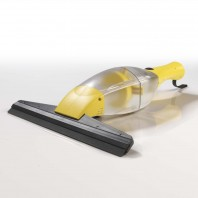 CLEANmaxx Akku-Fensterreiniger 3,7 V in Gelb mit Verlängerungsstange - Freisteller