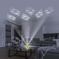 BMG LED-Echtwachskerze - Mit rotierender BMG-Logo-Projektion - grün