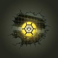 BVB LED-Lampe in Ballform mit 3D-Wandtattoo